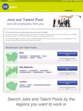 Search Jobs and Talent Pools
